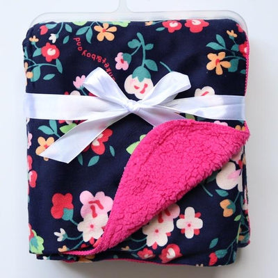 Double Layer Coral Fleece Baby Blanket