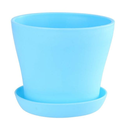 "Colorful Plastic Plant Pot (Diameter 4""/10cm)"