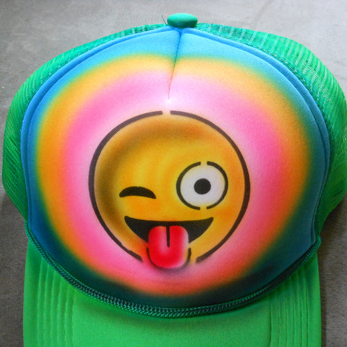 Smile Emoji Airbrush Hat