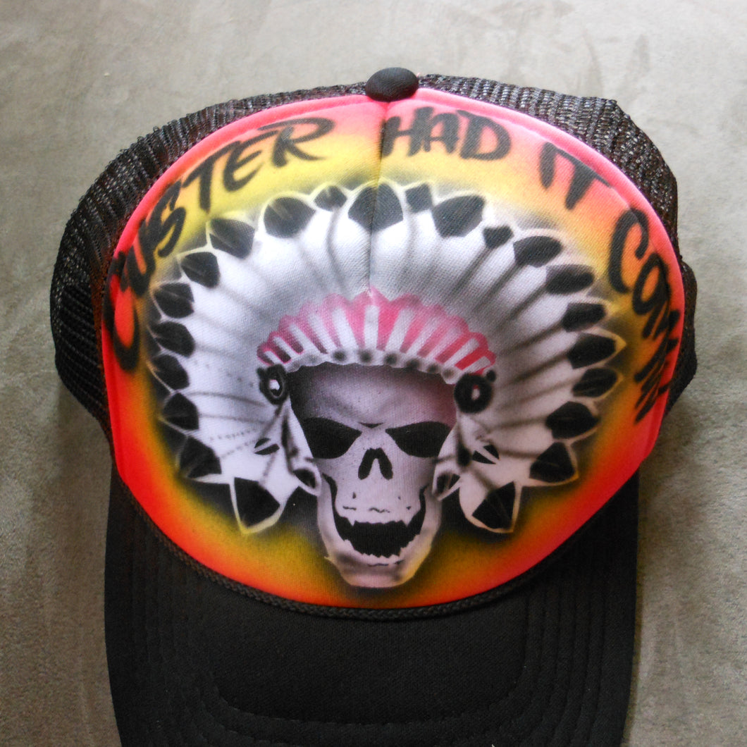 Skeleton Chief Airbrush Hat
