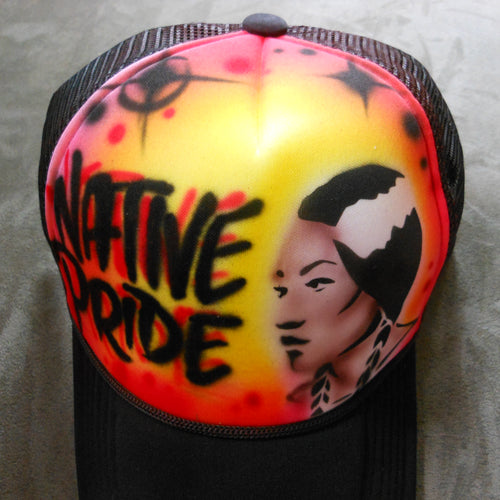 Native Pride Woman Airbrush Hat
