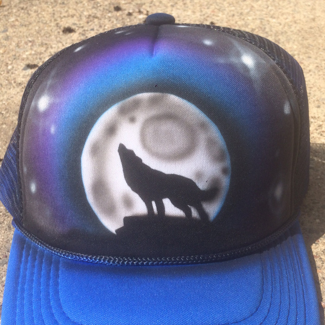 Wolf Moon Airbrush Hat