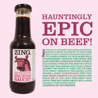 ZING Red Wine Sauce 330g Bottle