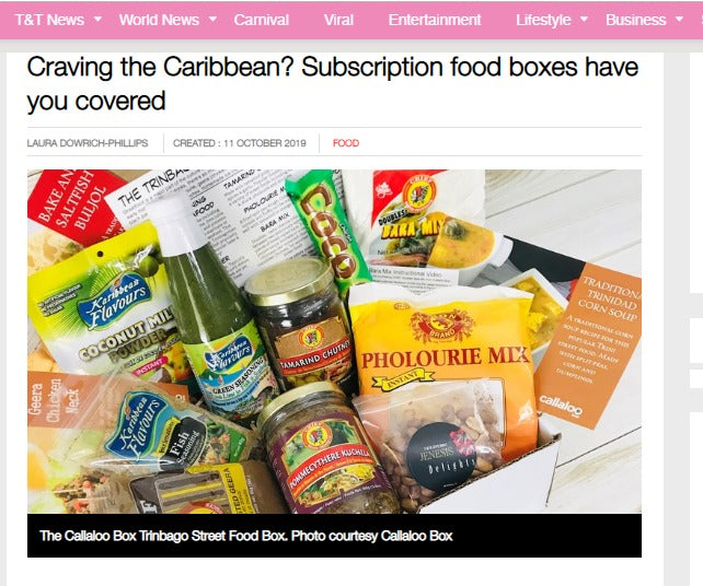 Loop TT Feature - Craving the Caribbean? Subscription food boxes have you covered