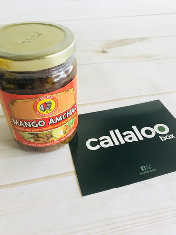 Callaloo Box Chief Mango Amchar Indo Trinbagonian Diwali Box subscription box Caribbean online grocery