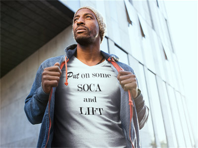 Put On Some Soca And Lift - Men's Short sleeve Tri-Blend T-shirt