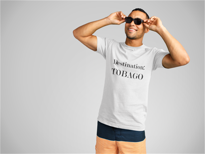 Destination: TOBAGO - Men's Short Sleeve Tri-Blend T-shirt