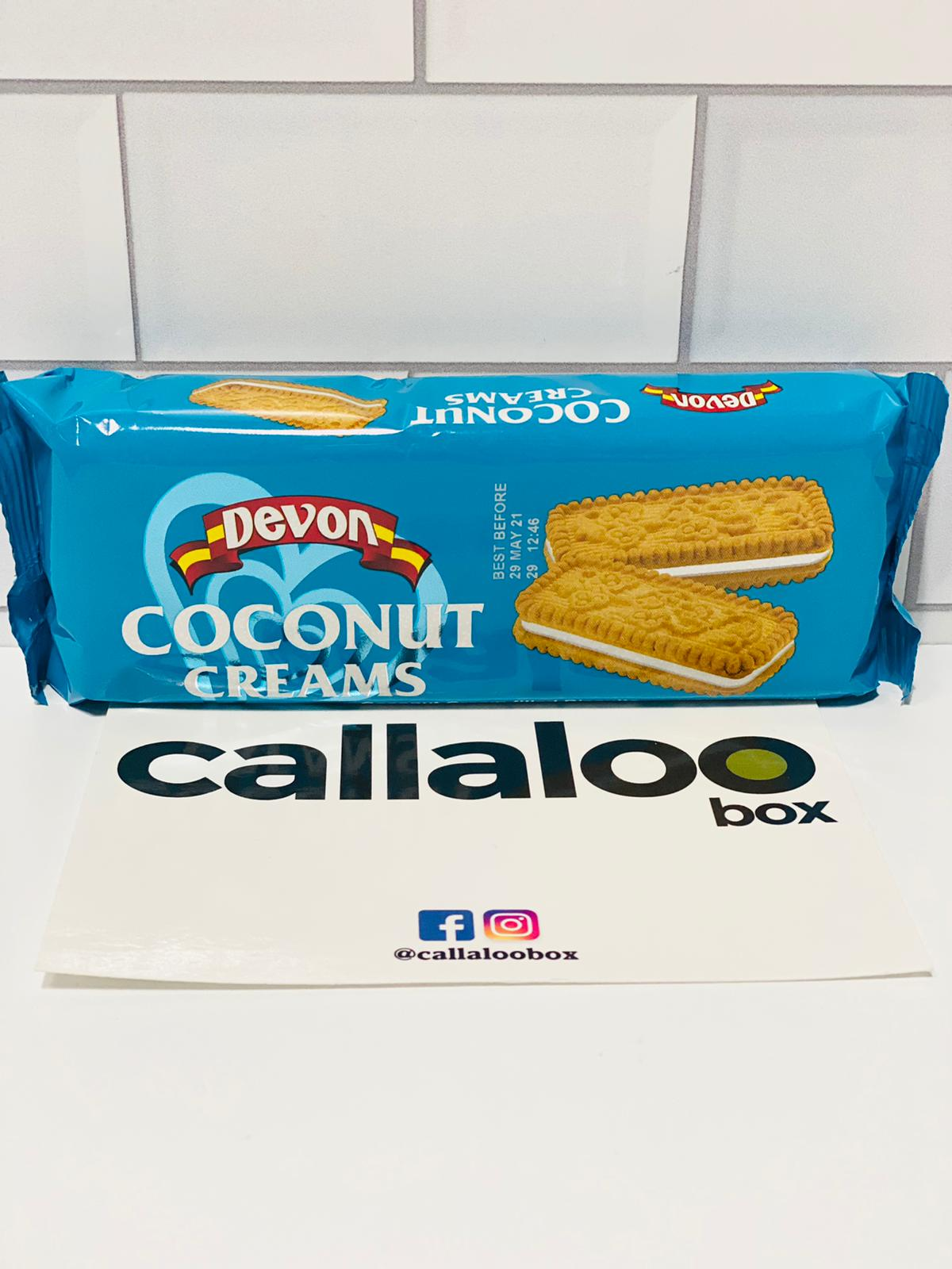 Callaloo Box Trinidad and Tobago Caribbean subscription box service Caribbean Online grocery_ Devon Custard Bourbon Coconut Creams_140 gCallaloo Box Trinidad and Tobago Caribbean subscription box service Caribbean Online grocery_ Devon Custard Bourbon Coconut Creams_140g