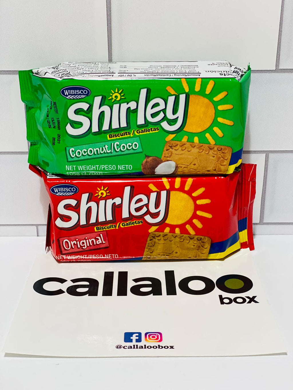 Callaloo Box Trinidad and Tobago Caribbean subscription box service Caribbean Online grocery_Shirley Biscuit_Coconut_Original_3.7oz_2 Pack