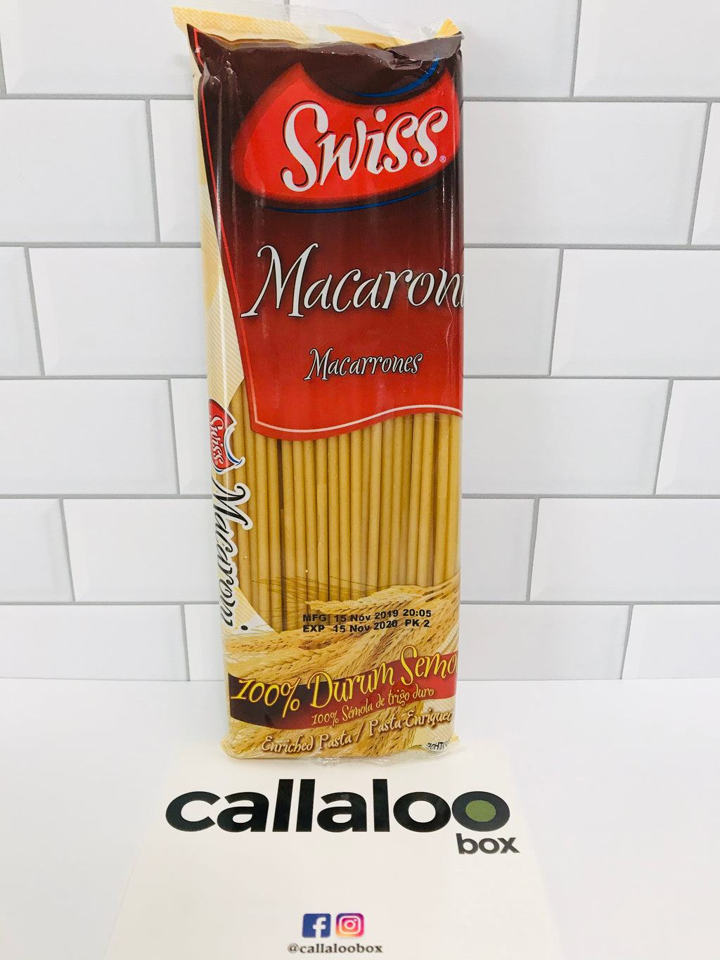 Callaloo Box Trinidad and Tobago Subscription Box Caribbean Online Grocery Swiss Macaroni