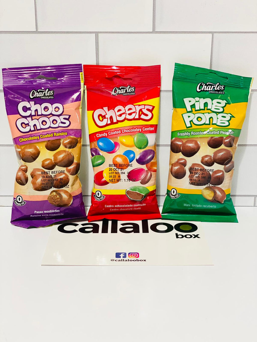 Callaloo Box Trinidad and Tobago Caribbean Online Grocery Subscription box_Trini Snack Online_Charles Chocolate Choo Choos Cheers Ping Pong_50g