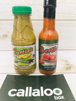 Callaloo Box Berties Bertie's Pimento Sauce Pepper Sauce pack of 2 Trinidad and Tobago Subscription Box Caribbean Online Grocery