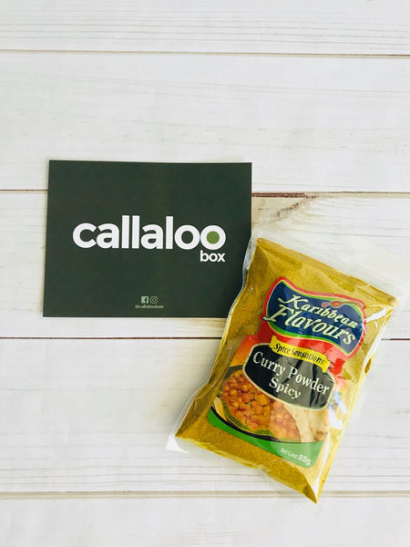 Callaloo Box Karibbean Flavours Curry Powder Spicy Trinidad and Tobago subscription box online grocery