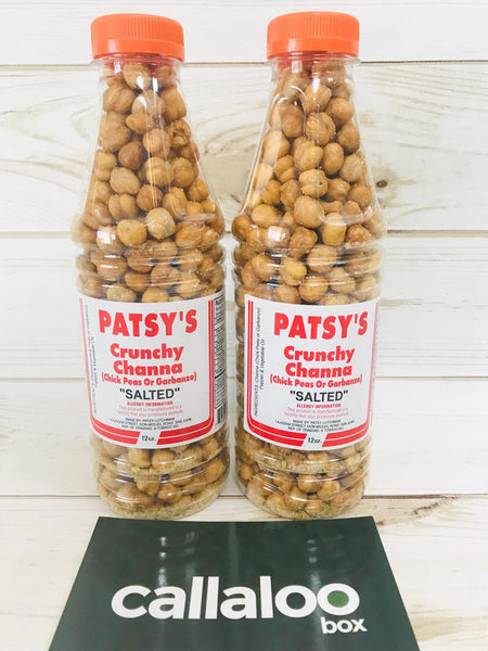Callaloo Box Patsy's Patsys Crunchy Whole Channa salted pack of 2 12oz Trinidad and Tobago subscription box service online Caribbean Grocery