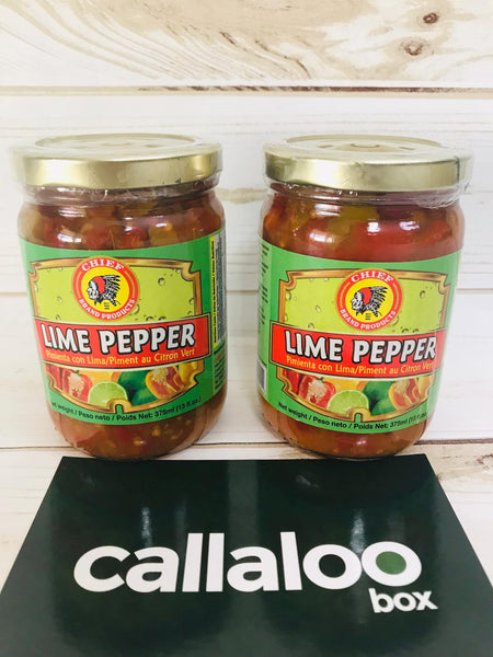 Callaloo Box Trinidad Tobago Caribbean Subscription Box Online Grocery Chief Lime Pepper Pack of 2
