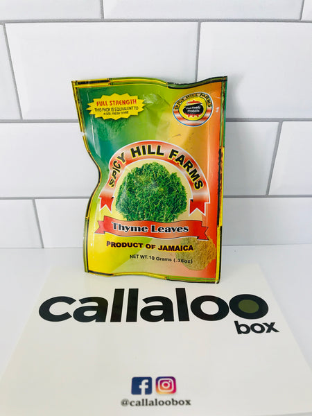Callaloo Box Trinidad & Tobago Creole Box Subscription Box Caribbean Online Grocery 2020.02- Spicy Hills Farm Thyme Leaves Jamaica product_2