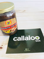 Callaloo Box Trinidad Tobago Finger Food Snacks Box Chief Tamarind Chutney Caribbean subscription box online grocery
