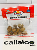 Callaloo Box Trinidad Tobago Subscription Box Caribbean Online Grocery - Carib Brand Whole Nutmeg - 1.5 oz