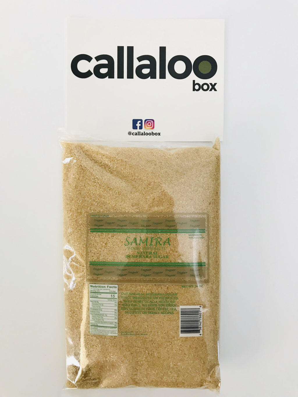 Callaloo Box Trinidad Tobago Subscription Box Caribbean Online Grocery_Samira Food Products - Natural Demerara Sugar - 1.5lbs