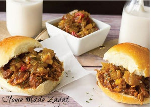 HomeMade Zagat's Pulled Jerk Chicken Sandwich Recipe Card