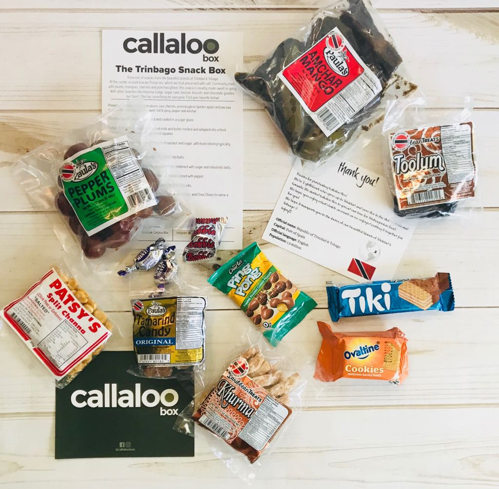 The Trinbago snack box by Callaloo Box full