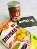 Callaloo Box Trinidad Tobago Finger Food Snacks Box Chief Mango Chutney Dip pholourie mix Caribbean subscription box online grocery