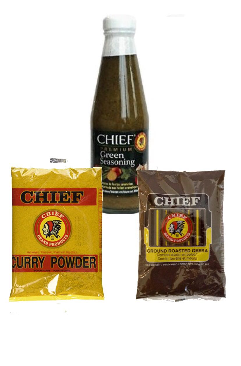 callaloo box chief geera curry powder green seasoning trinidad online grocery store