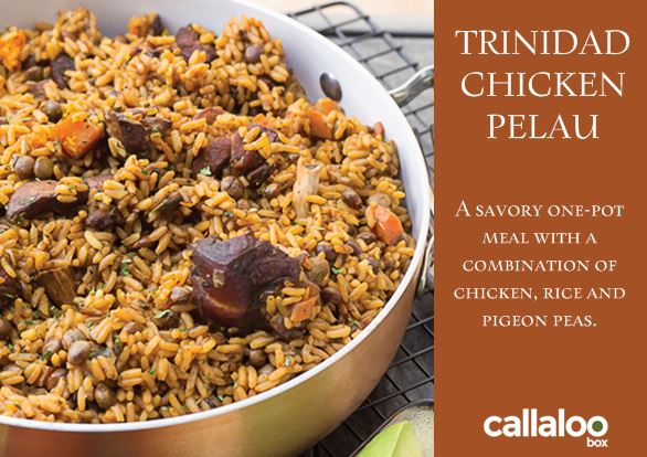 callaloo box homemade zagat trinidad chicken pealu recipe card