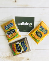 callaloo box karibbean flavours mild curry powder geera turmeric powder 85g  trinidad and tobago online grocery