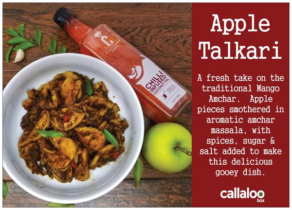 callaloo box trinicooking with natasha apple talkari recipe