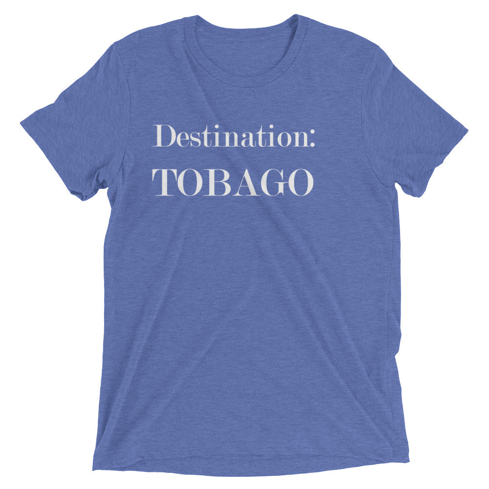 Destination: TOBAGO - Men's Short Sleeve Tri-Blend T-shirt (18 colors)