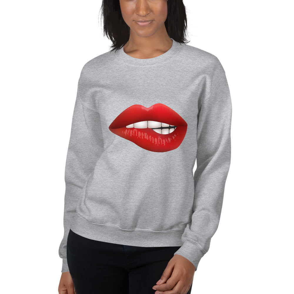 Women's Sweatshirt - Red Kiss