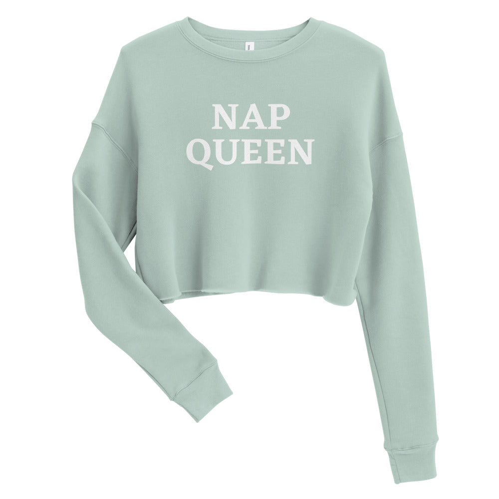Women's Crop Sweatshirt - Nap Queen