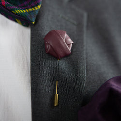 Roosevelt | Leather | Lapel Pin