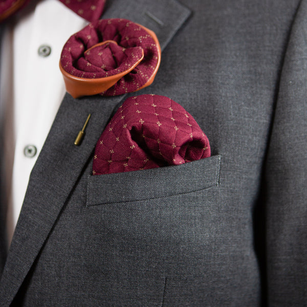 Franklin Red | Wool | Pocket Square
