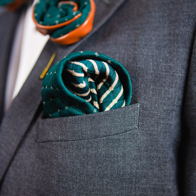 Burwood Green | Wool | Pocket Square