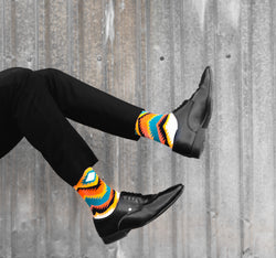 Stripes On Stripes | Multicoloured Socks