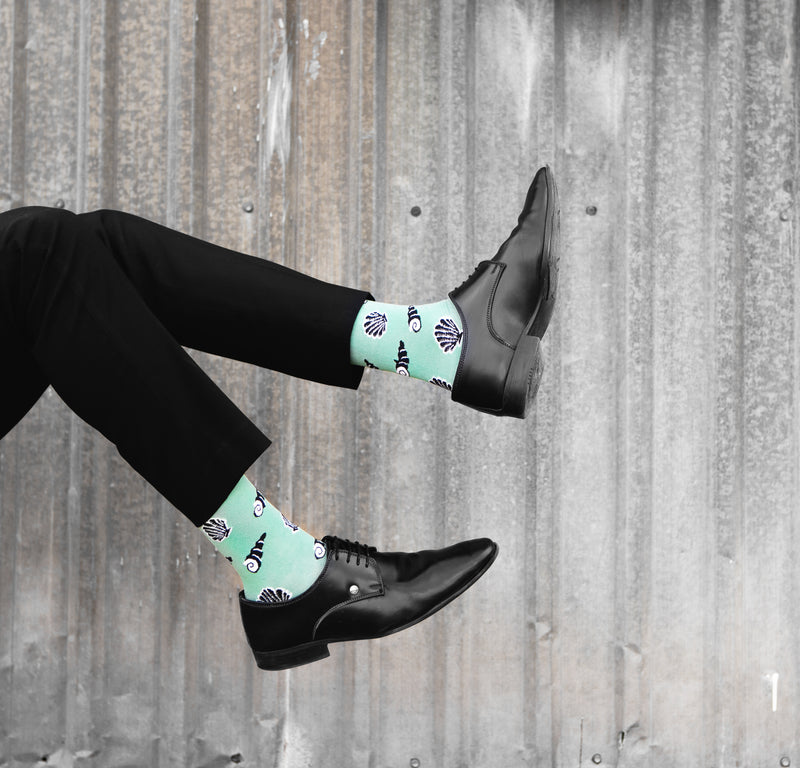 Shells | Mint Green Socks