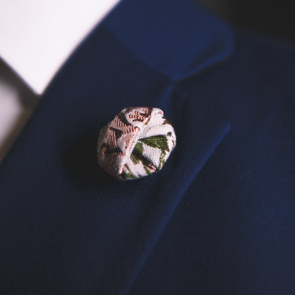 Derby Floral | Jacquard | Button Knot