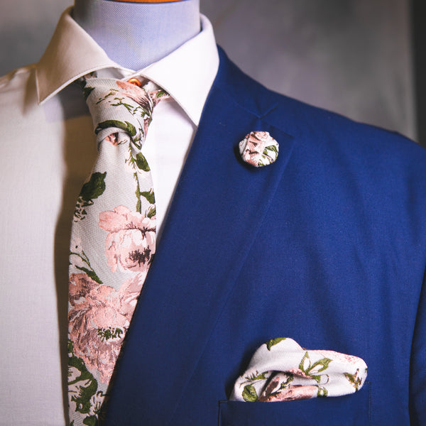 Derby Floral | Jacquard | Tie | Made To Order