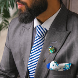 Nova | Blue and White Stripes | Necktie