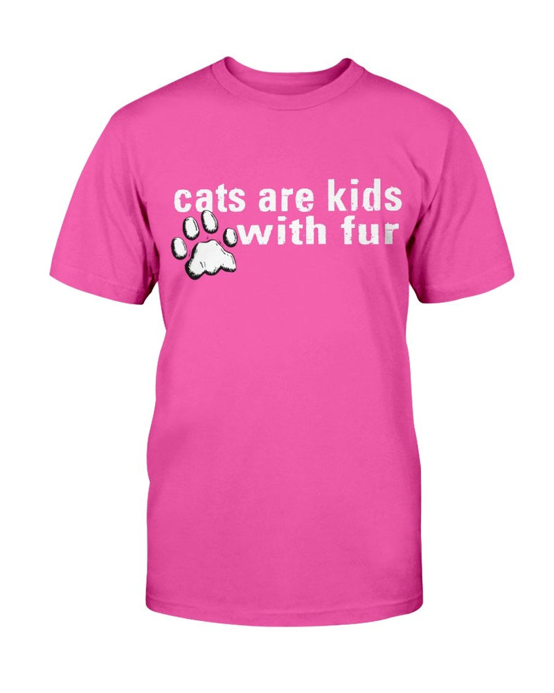 Cat Kids with Fur T-Shirt - Two Chicks Designs