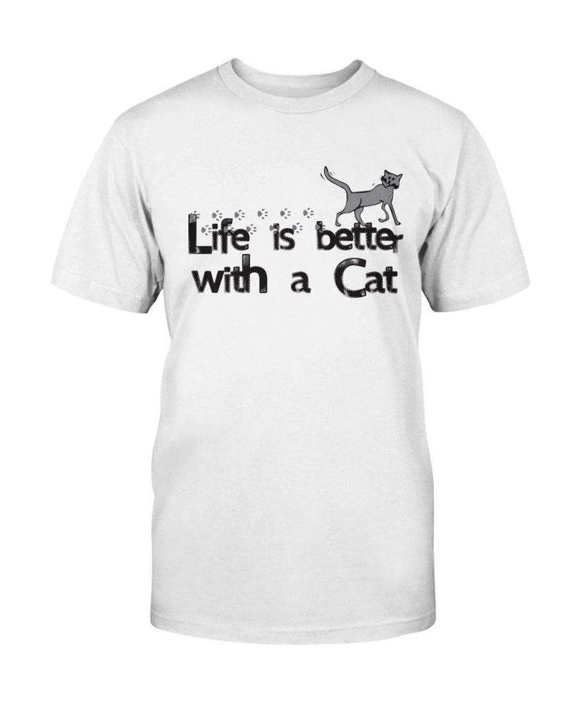 Life Better Cat T-Shirt - Two Chicks Designs