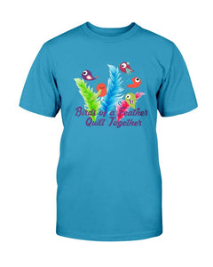 Birds of a Feather Quilting T-Shirt - Two Chicks Designs