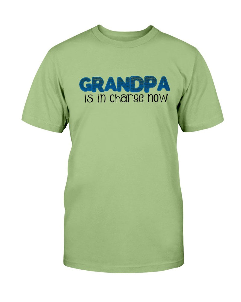 Grandpa In Charge T-Shirt - Two Chicks Designs