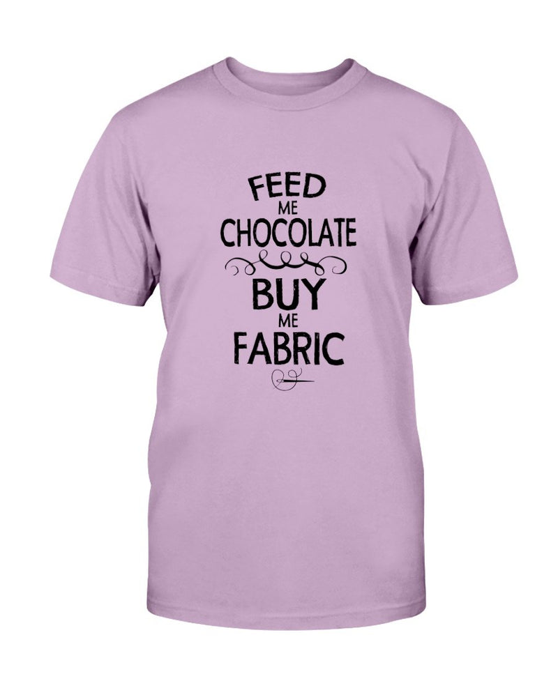 Feed Me Chocolate Quilting T-Shirt - Two Chicks Designs