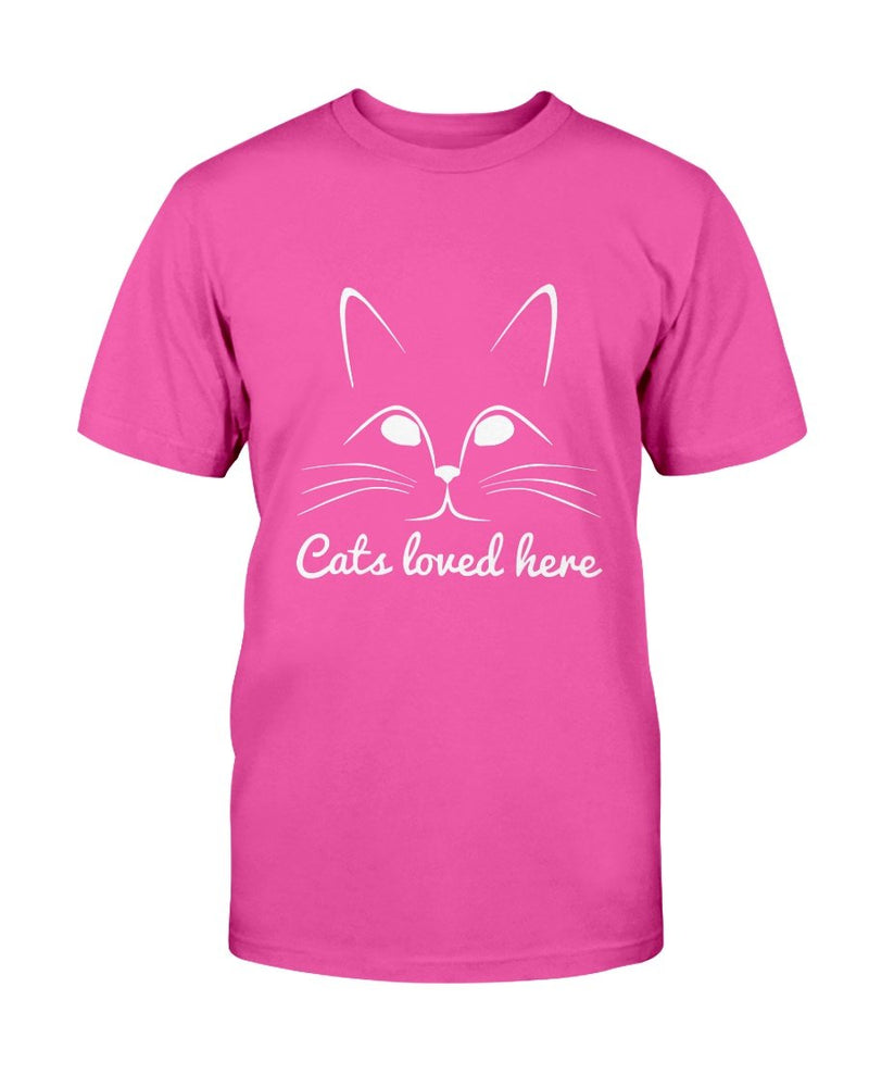 Cat Loved Here T-Shirt - Two Chicks Designs