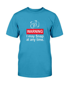 Warning Snap Anytime T-Shirt