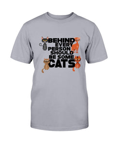 Behind Cat Tee