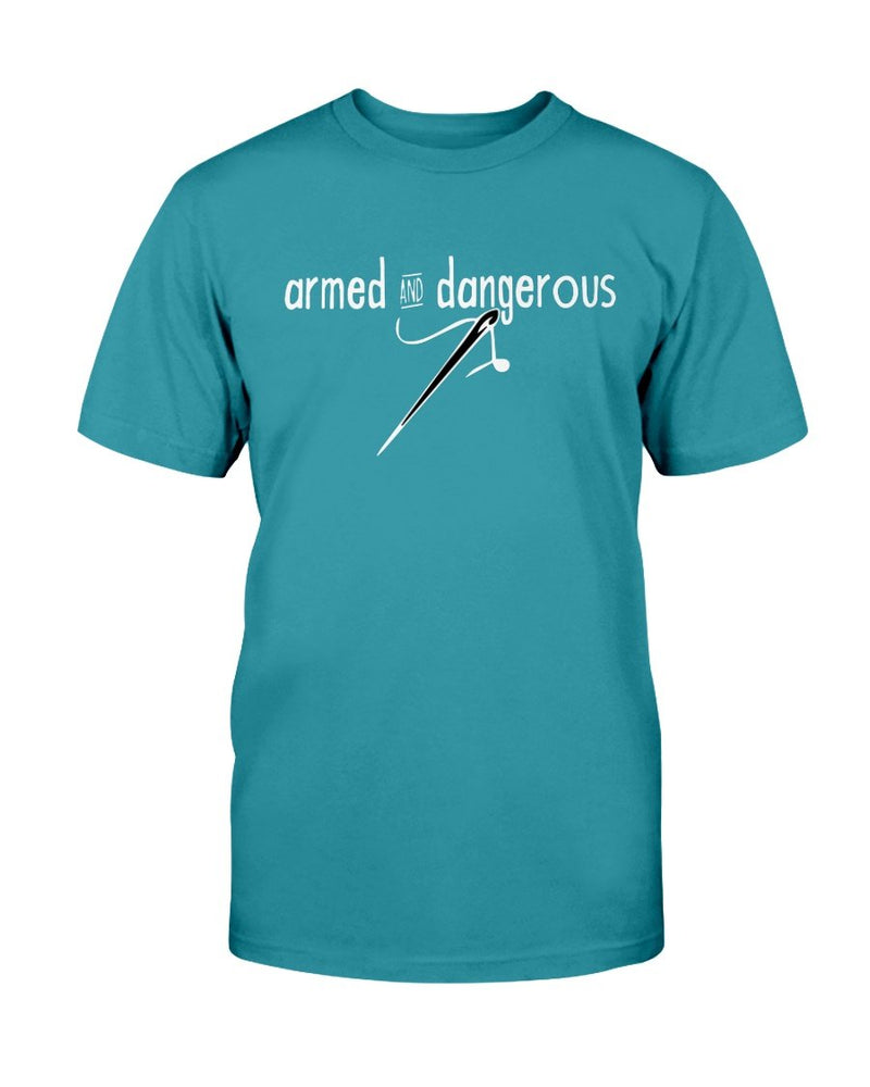 Armed and Dangerous Quilting T-Shirt - Two Chicks Designs